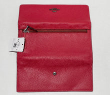 Load image into Gallery viewer, COACH - Soft Leather Trifold Wallet (Red Apple)