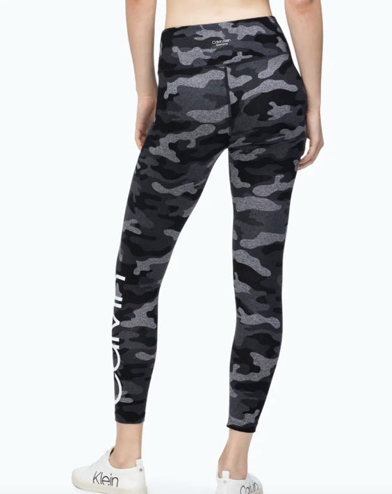 CAlVIN KLEIN - Performance Camo High Waist 7/8 Leggings  (XS,M)