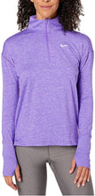 Load image into Gallery viewer, NIKE - Women's Element Dry Half-Zip Running Top, Psychic Purple (M,L,XL)