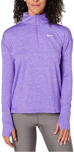 NIKE - Women's Element Dry Half-Zip Running Top, Psychic Purple (M,L,XL)