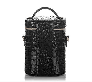 BRAHMIN - Brynn Barrel Bag Black Melbourne (Genuine Leather)