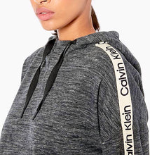 Load image into Gallery viewer, CALVIN - Women's Logo Tape Drop Shoulder Hoodie, Grey (L)