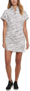DKNY - Sport Meteorite Logo-Print Dress, White/Black (L)