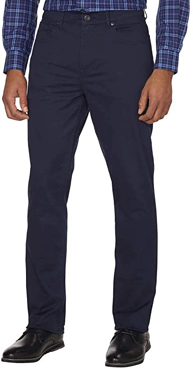 DKNY Men's Bedford Slim-Straight Fit Performance Stretch Pants