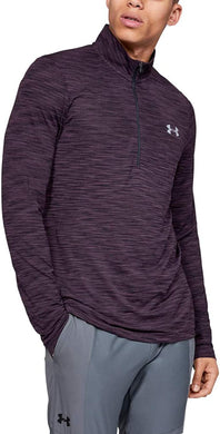 UNDER ARMOUR - Men's Vanish Seamless 1/2 Zip, Kinetic Purple (S,M)