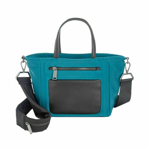 KENNETH COLE - Women's Blue Delancey Tech Nylon Satchel (Teal)