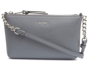 CALVIN KLEIN - Hayden Saffiano Top Zip Chain Crossbody (Multiple Colors)