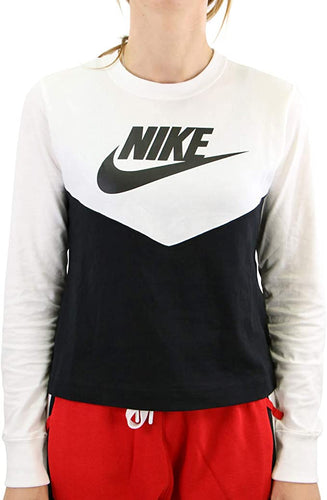 NIKE - Women's Sportswear Cotton Clorblocked Top (L)