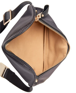MICHAEL KORS - Nylon Fanny Pack, Navy/Gold (O/S)