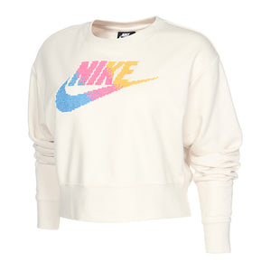 Nike - Women's Fleece Logo Crew Neck Pullover, Phantom