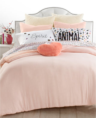 MARTHA STEWART COLLECTION - Whim Crinkle Carnation Bedding Collection (Full Queen)