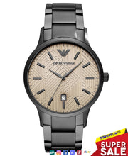 Load image into Gallery viewer, Emporio Armani - Men's Gunmetal Stainless Steel Bracelet Watch 43mm