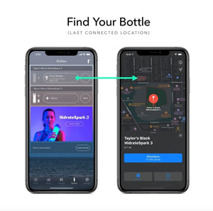 HIDRATESPARK 3 - Smart Water Bottle & Free Hydration Tracker App - 20 Oz