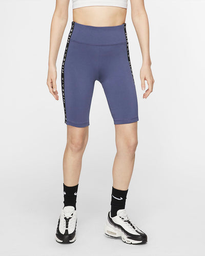 NIKE - Women's Air High-waist Bike Shorts, Sanded Purple (M)