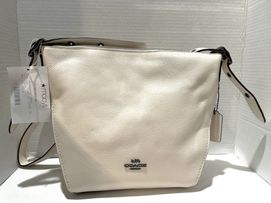 COACH - White Pebbled Leather Shoulder Bag (New with Reticket Tag)