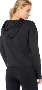 UNDER ARMOUR - Women's Taped Crop Hoodie, Black (L)
