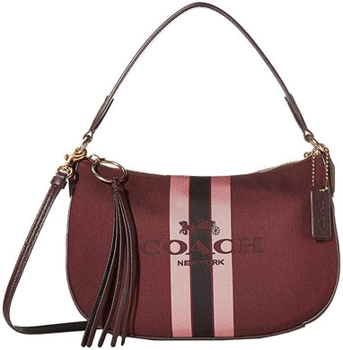 COACH - Horse And Carriage Jacquard Sutton Crossbody, New Other (Oxblood)