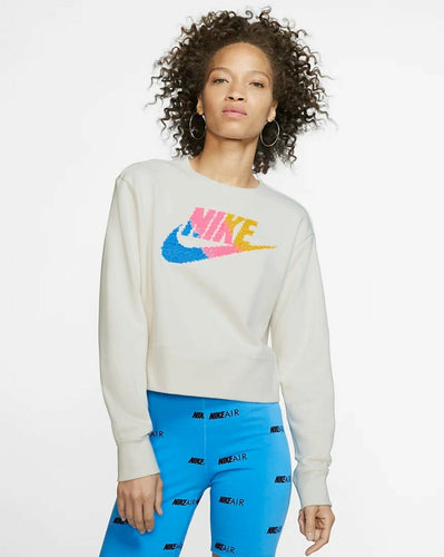 NIKE - Yoga Women's Long Sleeve Sweatshirt, White (Small)
