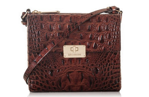 BRAHMIN - Manhattan Pecan Melbourne Crossbody (Genuine Leather)