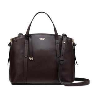 RADLEY LONDON - Ashwick Court Small Grab Multiway Satchel (Darkbrown)