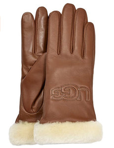 UGG Womens Classic Leather Logo Glove