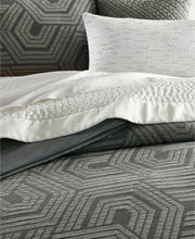 "Load image into Gallery viewer, HOTEL COLLECTION - Textured Hexagon Sham, King (20"" x 36"")"