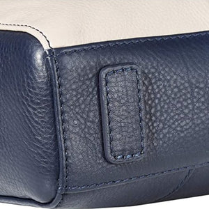 RADLEY LONDON - Haven Street Patchwork Leather Medium Zip Top Tote (Dark Blue)