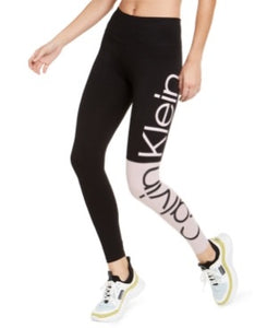CALVIN KLEIN - Colorblocked Logo High-Waist Leggings (XS,L)