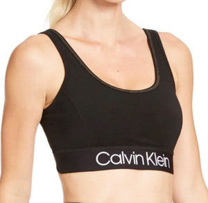 CALVIN KLEIN - Performance Logo Medium-Impact Sports Bra (L,XL)