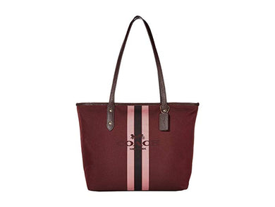 COACH - City Zip Tote With Horse And Carriage Color Oxblood