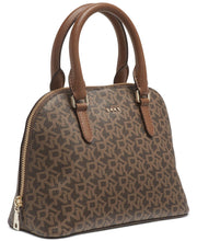 Load image into Gallery viewer, DKNY - Bryant Dome Logo Satchel (Brown Signature Print)