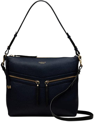 RADLEY LONDON - Womens Smith Street Leather Zip-Top Shoulder Bag (Dark Blue)