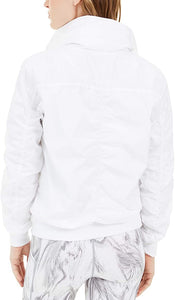 IDEOLOGY - Ruched-Sleeve Hooded Jacket, White (M,L)