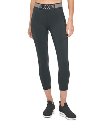 DKNY - Sport Mesh Trimmed High Waist 7/8 Leggings, Black (S,M,L,XL)