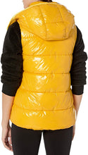 Load image into Gallery viewer, CALVIN KLEIN Performance - Women's Quilt Vest with Velvet Trim and Detachable Hood Down Vest, Mustard (XL)