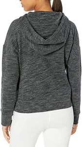 CALVIN - Women's Logo Tape Drop Shoulder Hoodie, Grey (L)