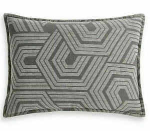 "HOTEL COLLECTION - Textured Hexagon Sham, King (20"" x 36"")"