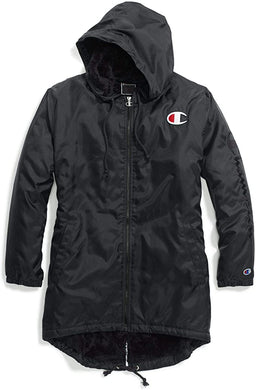 CHAMPION - Life Womens Reverse Weave Sherpa Lined Coaches Jacket, Black (S)