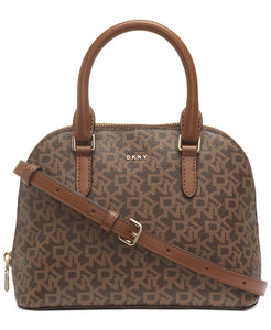 DKNY - Bryant Dome Logo Satchel (Brown Signature Print)