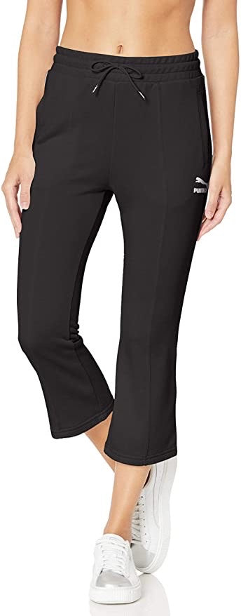 PUMA - Women's Classics Kick Flare Leg Pants, Black (S,XL)