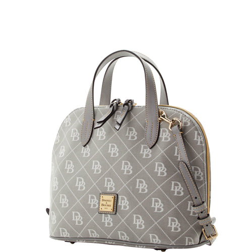 DOONEY & BOURKE - Maxi Quilt Zip Zip Satchel (Ash Gray)