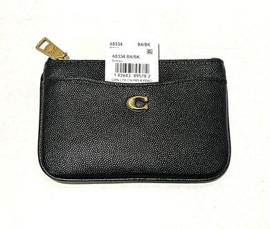 COACH -  Grain Leather Coin Purse (Black)