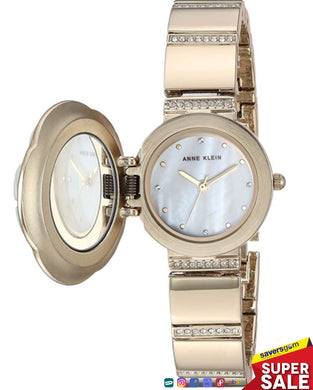 Anne Klein - Women's Swarovski Crystal Accented Covered Dial Watch