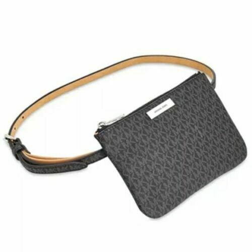 MICHAEL KORS - Signature Fanny Pack, Black (L,XL)