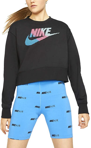 NIKE - Yoga Women's Long Sleeve Sweatshirt, Black (Small)