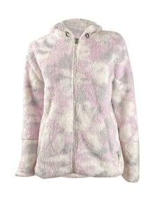 CALVIN KLEIN Performance - Women's Floral Print Soft Full Zip Hooded Jacket (XS)