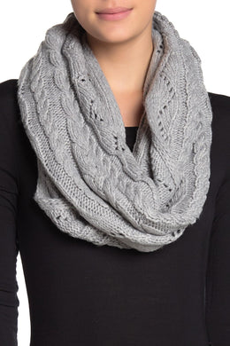 MICHAEL KORS - Super Cable Infinity Scarf, Grey (O/S)