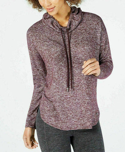 CALVIN KLEIN Performance - Women's Cowlneck Sweatshirt, Purple (XXL)