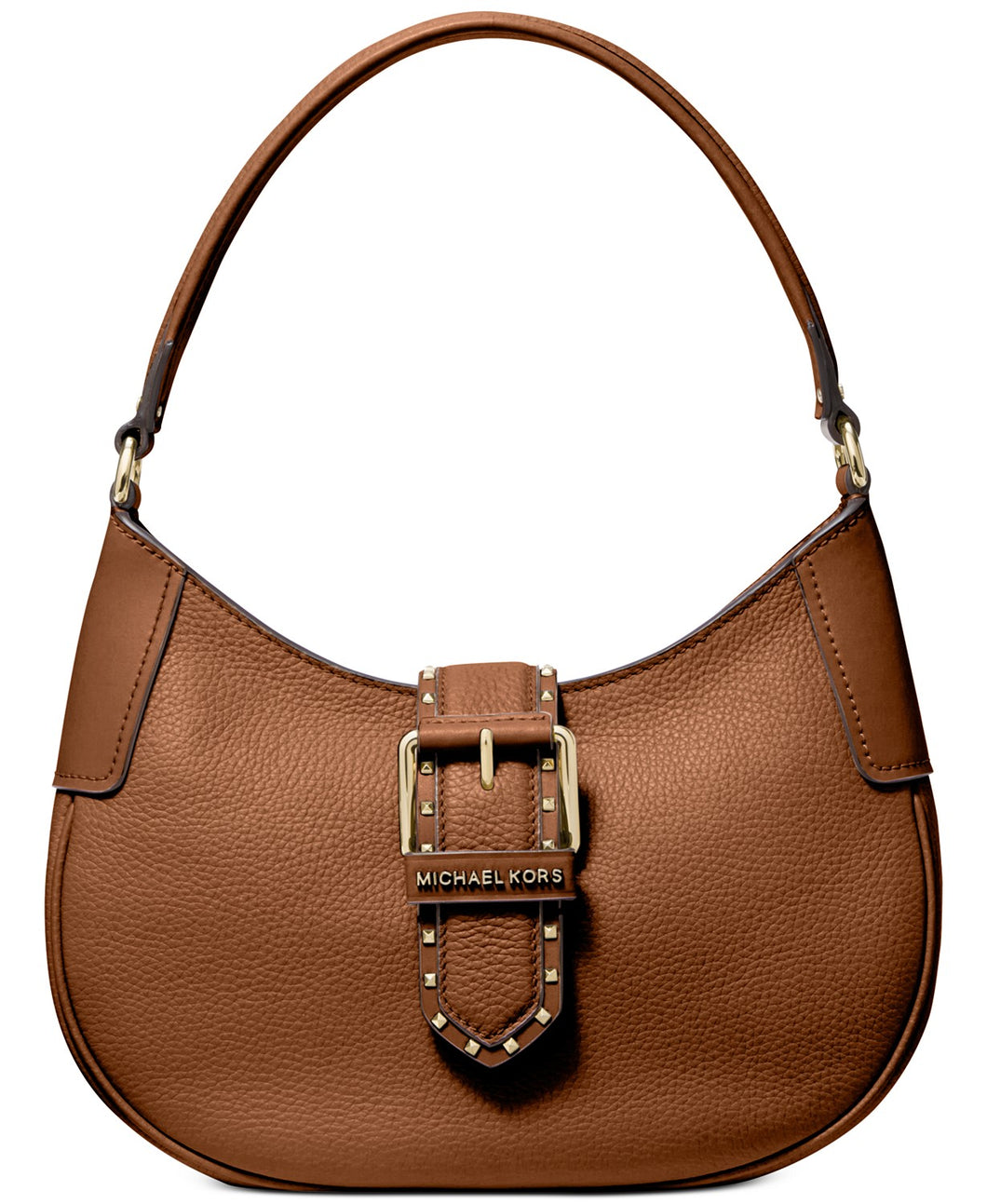 MICHAEL KORS - Lillian Genuine Leather Shoulder Bag (Brown/Acorn)