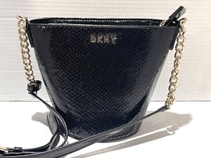 DKNY - Kim Leather Chain Bucket Crossbody, New Without Tags (Two Colors)